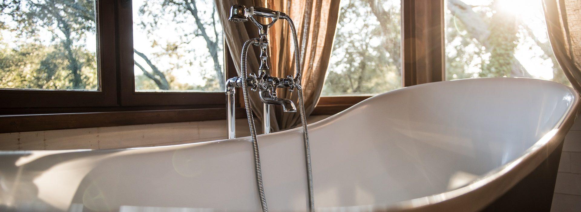 Chambre avec bagnoire vue sur la nature Nivaquine