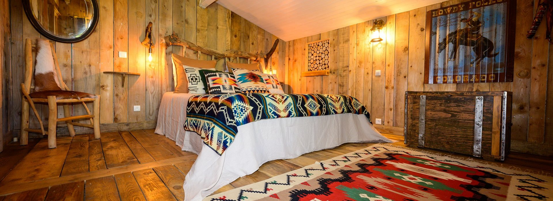 Chambre et cabane en bois