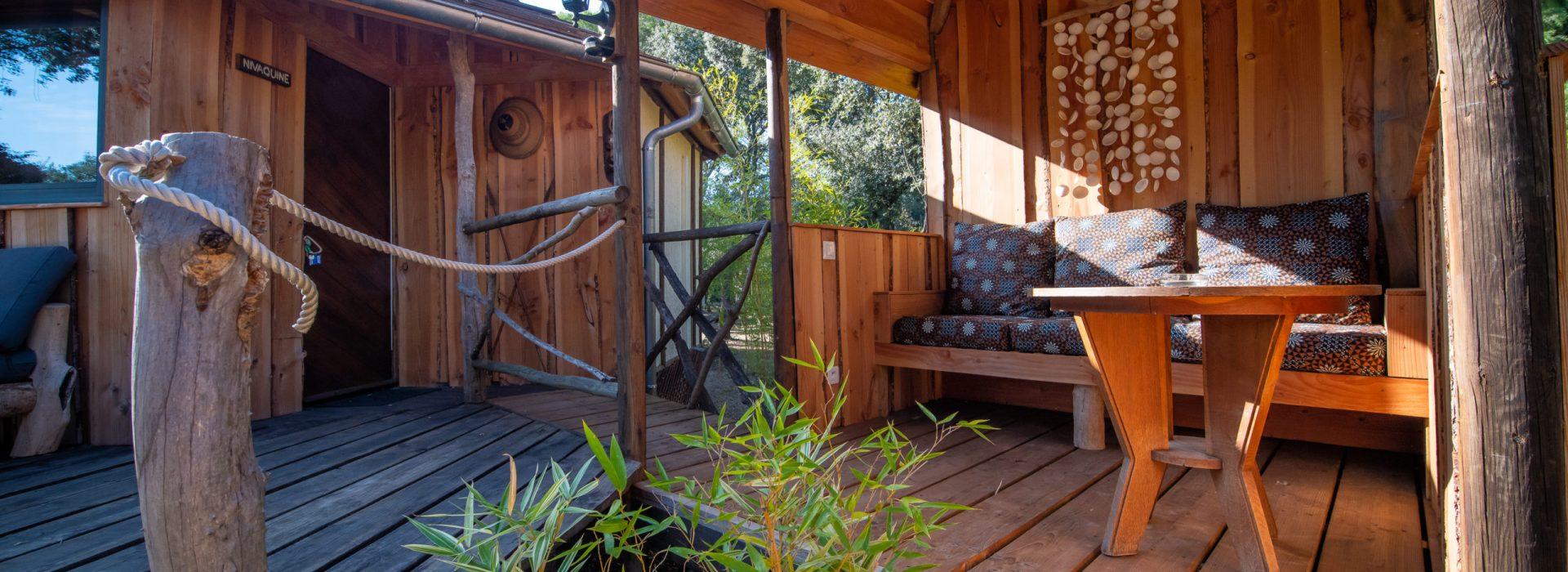 Terrasse à la maison d'hôtes de charme à la Villa Vanille